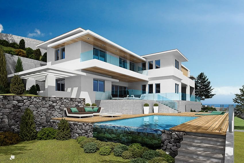 Luxury villas for sale in Limassol with private pool and sea views22