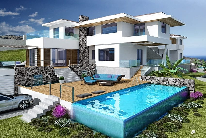 Luxury villas for sale in Limassol with private pool and sea views21
