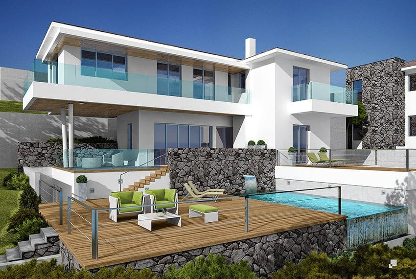 Luxury villas for sale in Limassol with private pool and sea views20