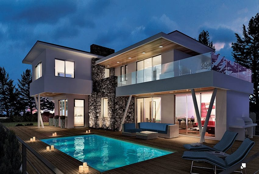 Luxury villas for sale in Limassol with private pool and sea views18