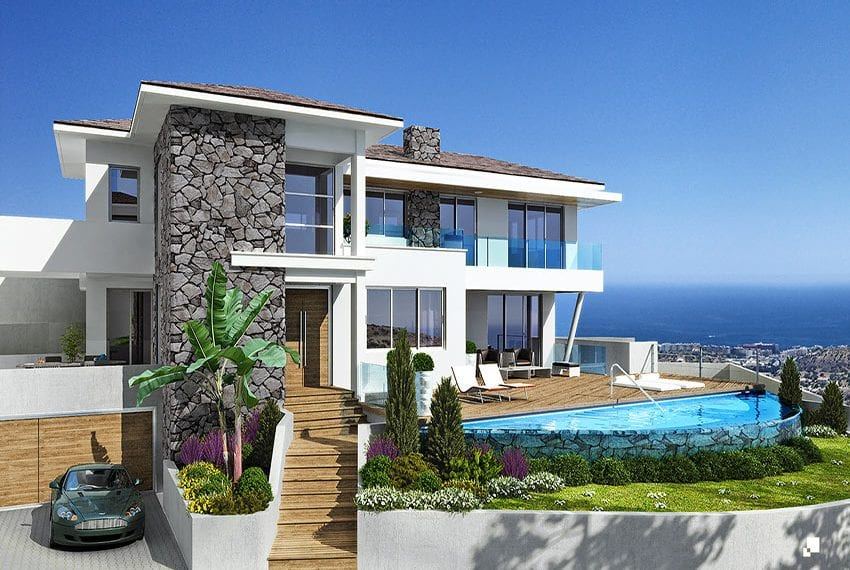 Luxury villas for sale in Limassol with private pool and sea views17