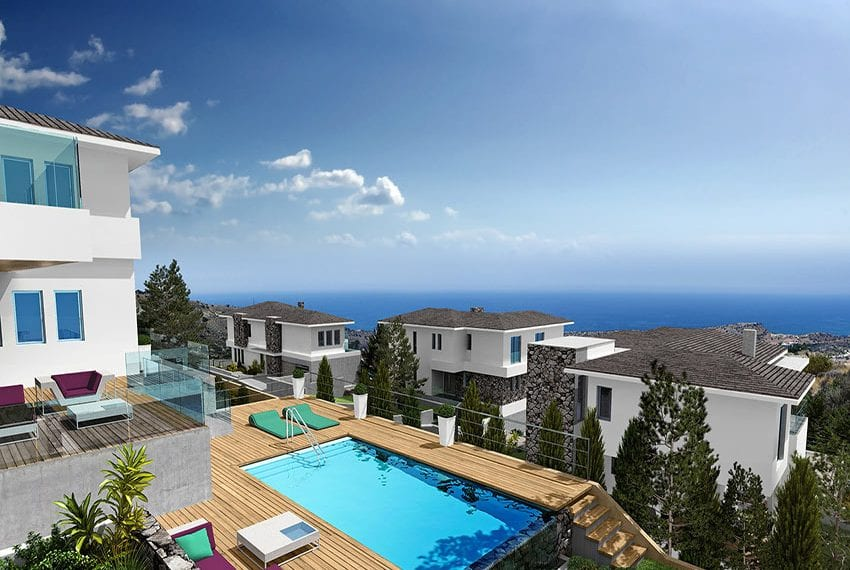 Luxury villas for sale in Limassol with private pool and sea views16
