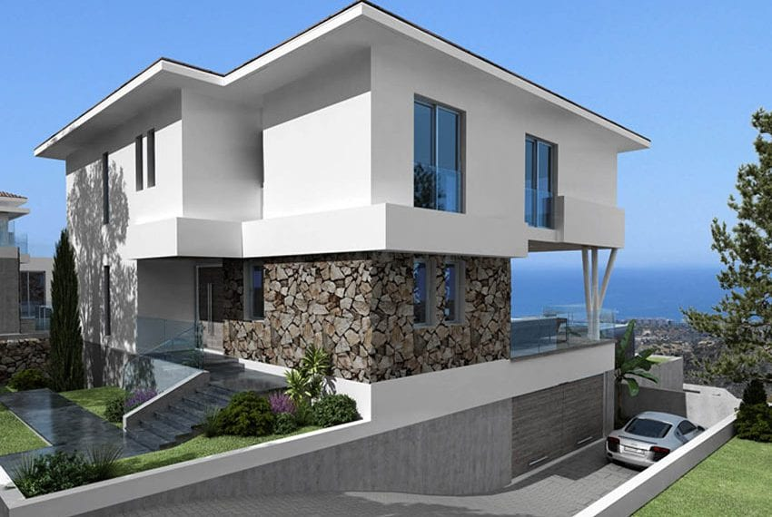 Luxury villas for sale in Limassol with private pool and sea views15