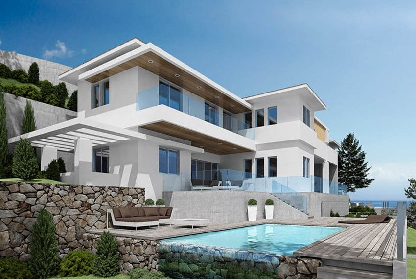 Luxury villas for sale in Limassol with private pool and sea views11