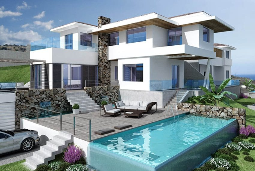 Luxury villas for sale in Limassol with private pool and sea views10