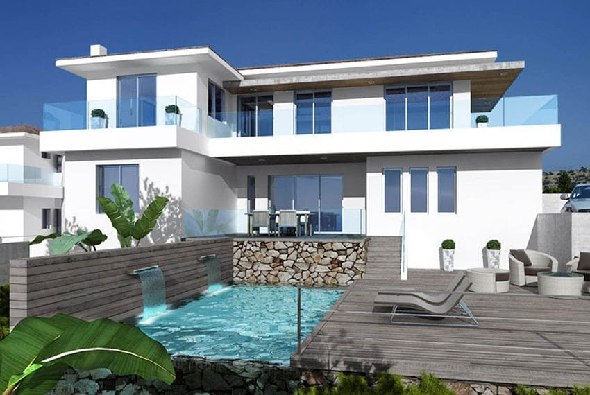 Luxury villas for sale in Limassol with private pool and sea views09
