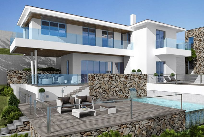 Luxury villas for sale in Limassol with private pool and sea views08