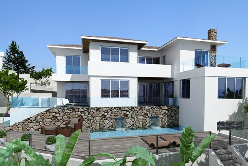 Luxury villas for sale in Limassol with private pool and sea views07