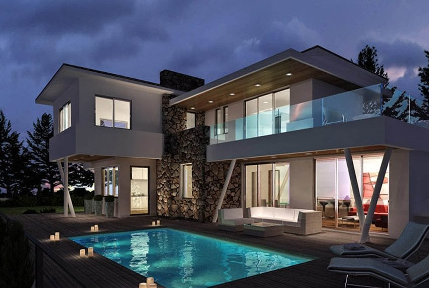 Luxury villas for sale in Limassol with private pool and sea views01