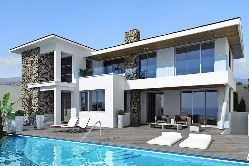 Luxury villas for sale in Limassol with private pool and sea views