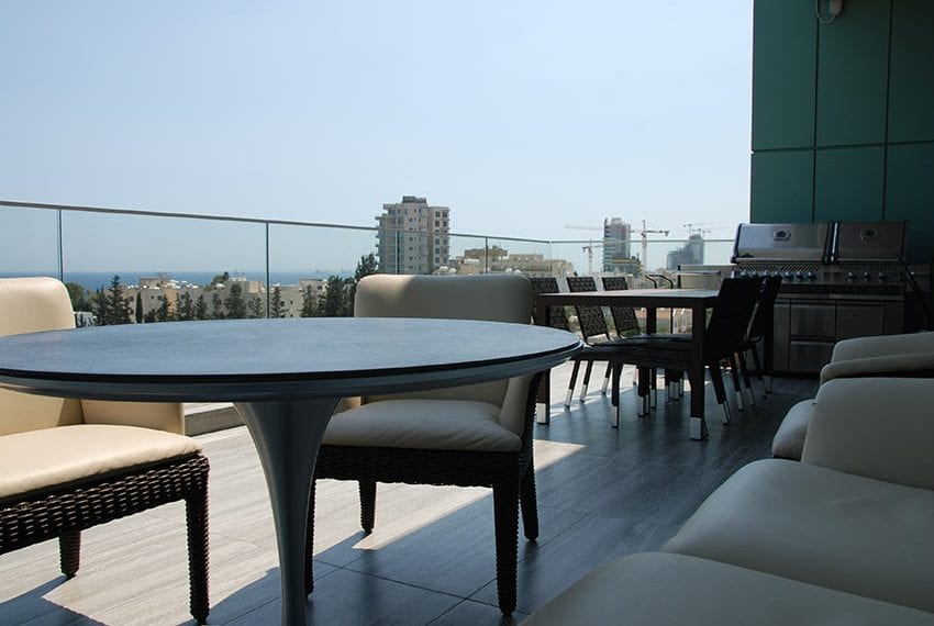 Duplex apartment with private roof garden for rent in Limassol23