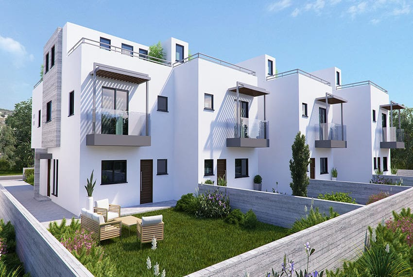 Town houses for sale in Cyprus, YEROSKIPOU-Paphos11
