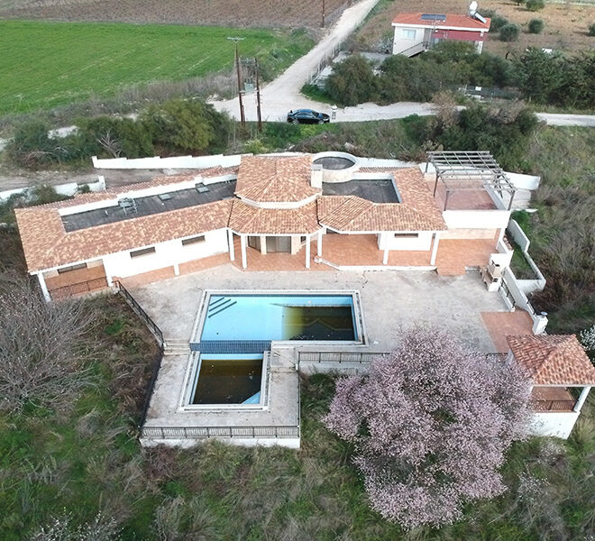 Halkyon villa for sale on large plot Marathunda Paphos