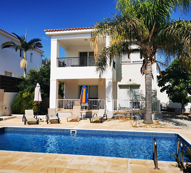 For sale 3 bed villa with private pool Coral Bay Paphos