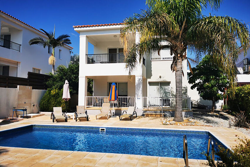 For sale 3 bed villa with private pool Coral Bay Paphos_1