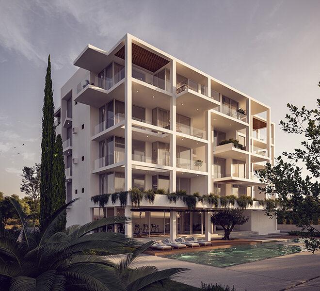 Luxury apartments for sale near sandy beach Paphos