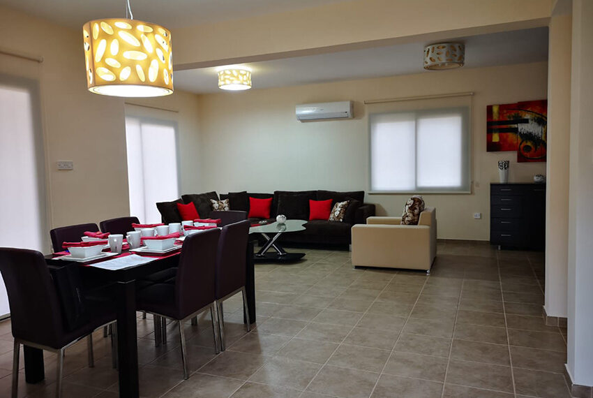 Furnished 3 bed villa for rent with private pool Souni Limassol_5