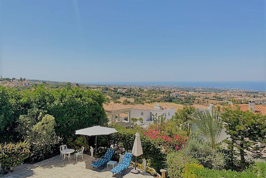 Villa for sale with panoramic sea views Tala Paphos_6