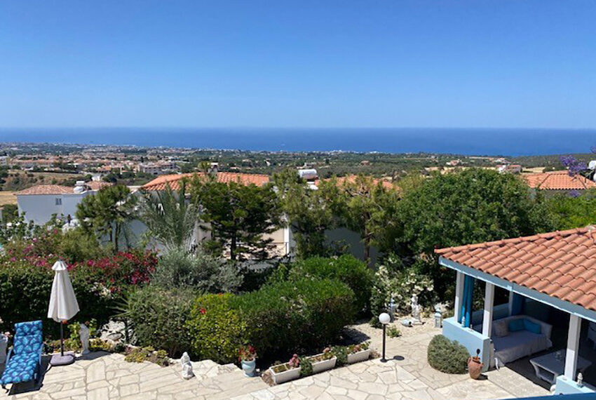 Villa for sale with panoramic sea views Tala Paphos_14